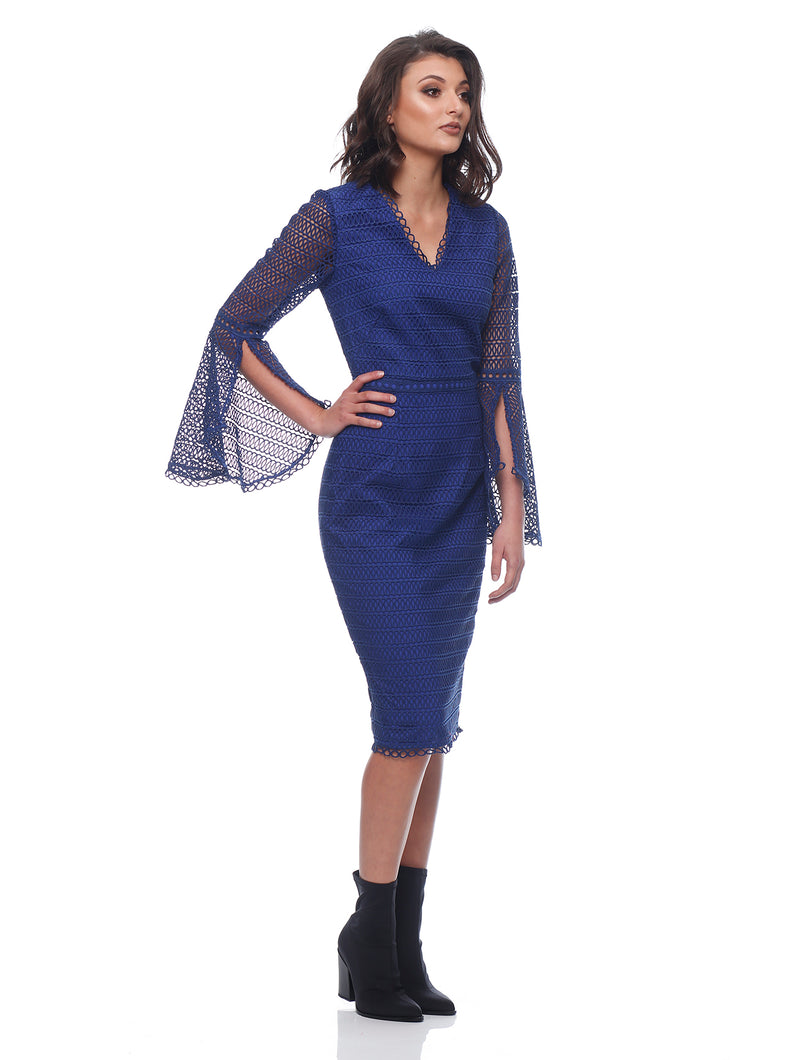 Isabelle Flare Sleeve Dress