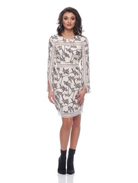 Arianna Long Sleeve Insert Dress