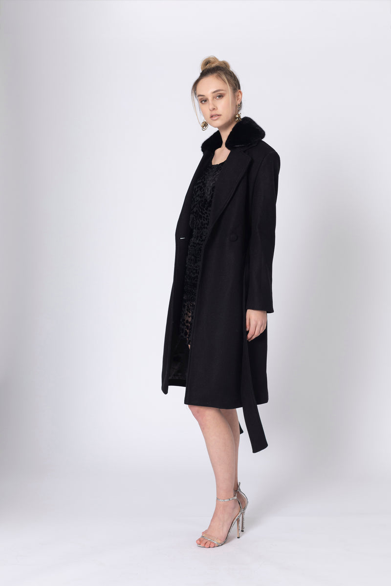 Foolish Games Fur Collar Coat