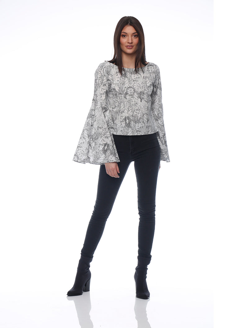 Bella Flair Sleeve Top