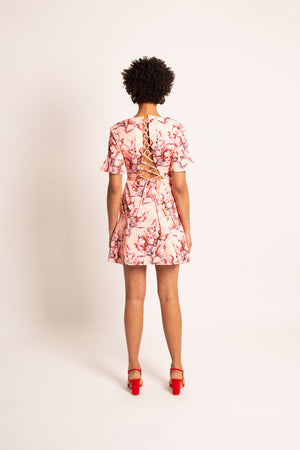 Pam Lace Up Back Dress