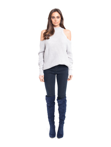 Jean Cut out Knit Top