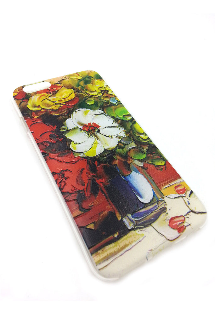 White flower in the Vase iPhone 6 case