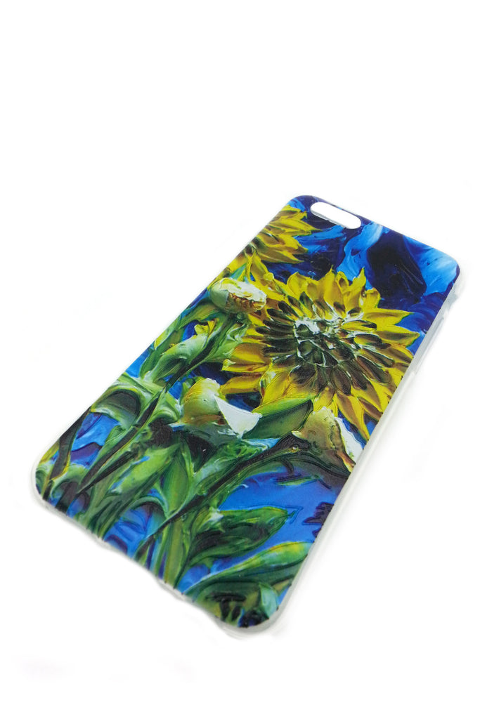 Blue Sun Flowers iPhone 6 case