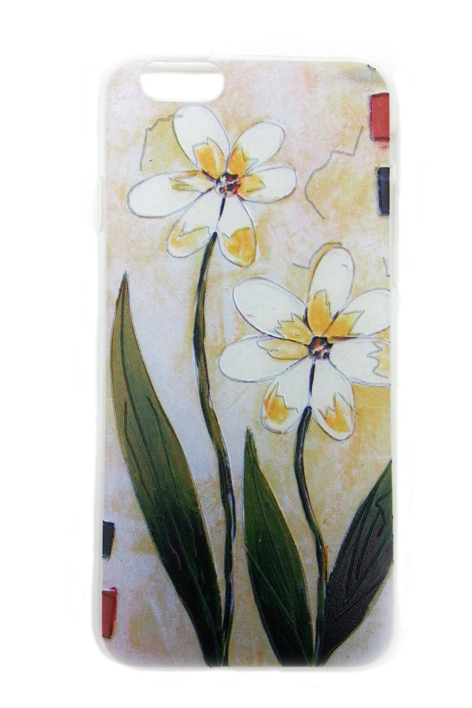 Two White Flowers iPhone 6 case