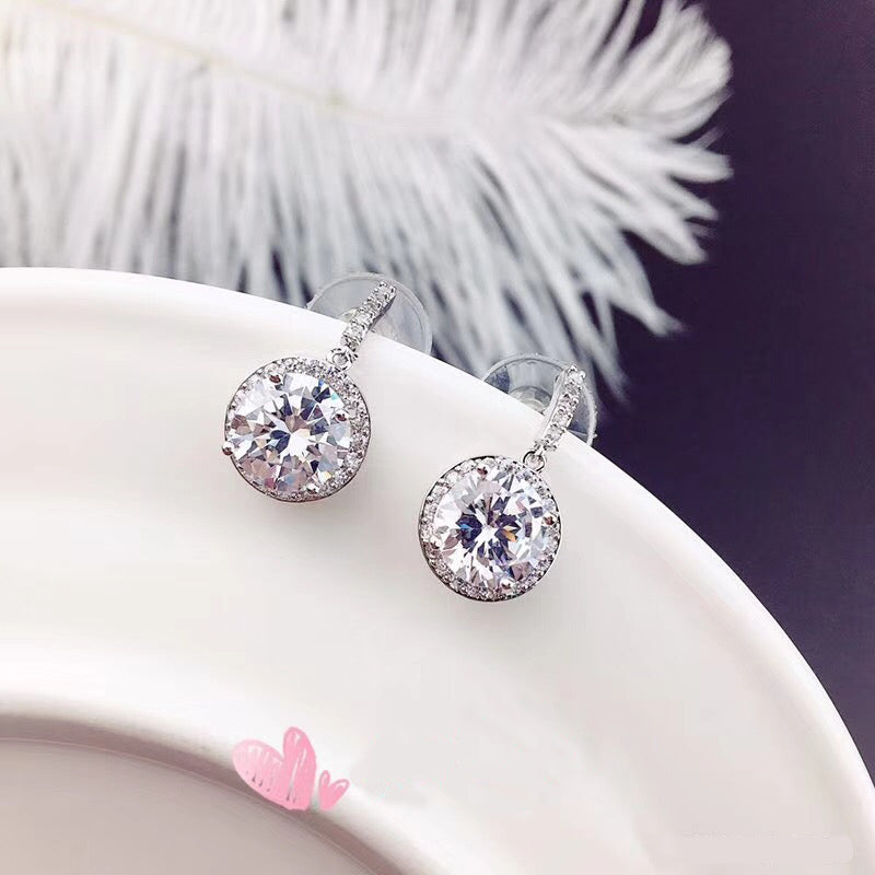 simple large crystal earrings