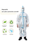 Disposable Coveralls Heavy-Duty Protective Suits Chemical Protection Work wear for Cleaning, Manufacturing, Health-Care