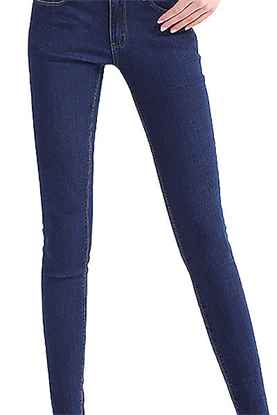 Slim thin stretch jeans denim