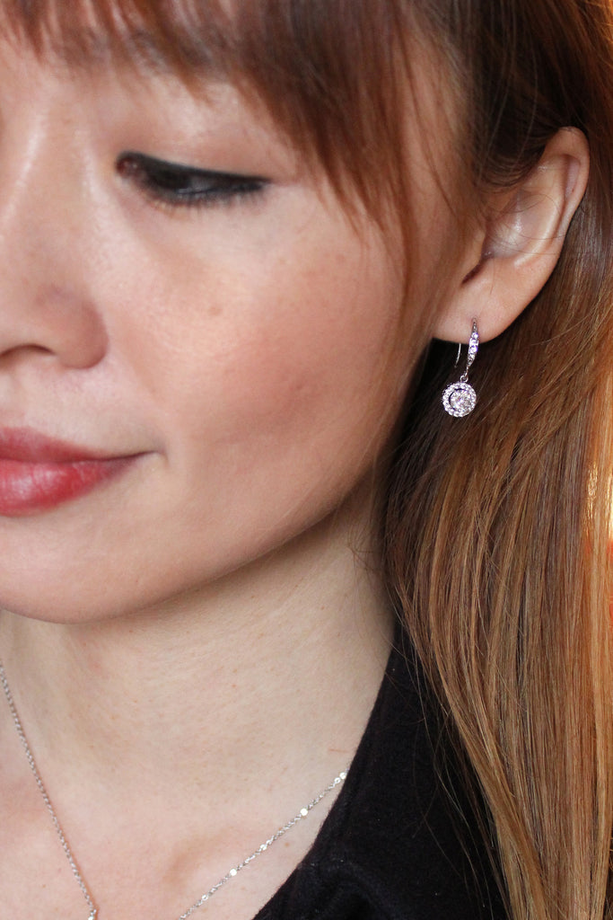 Stylish elegant crystal earrings