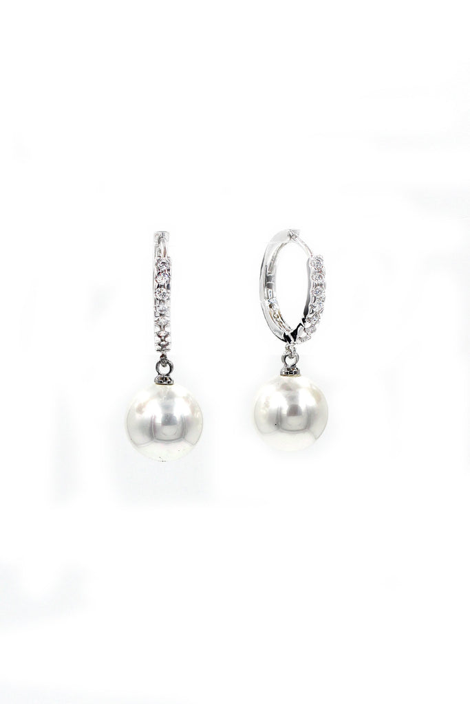 pendant pearl earring necklace set