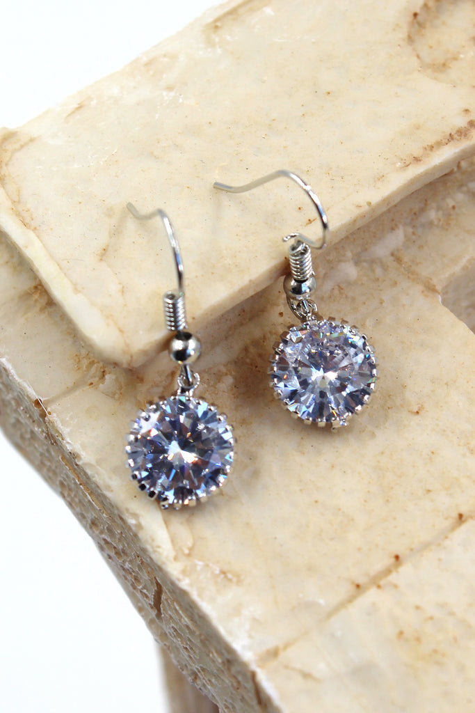 fine small pendant crystal earrings