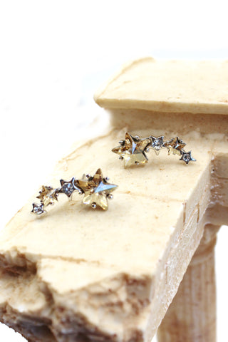 micro - inlaid small crystal silver ring