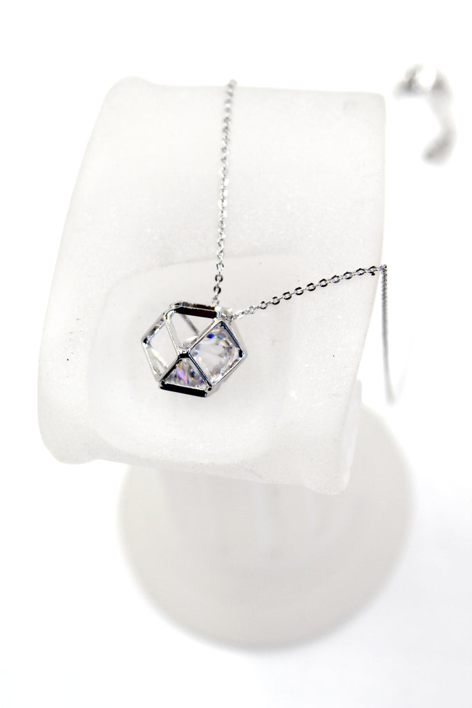 prismatic pendant crystal necklace