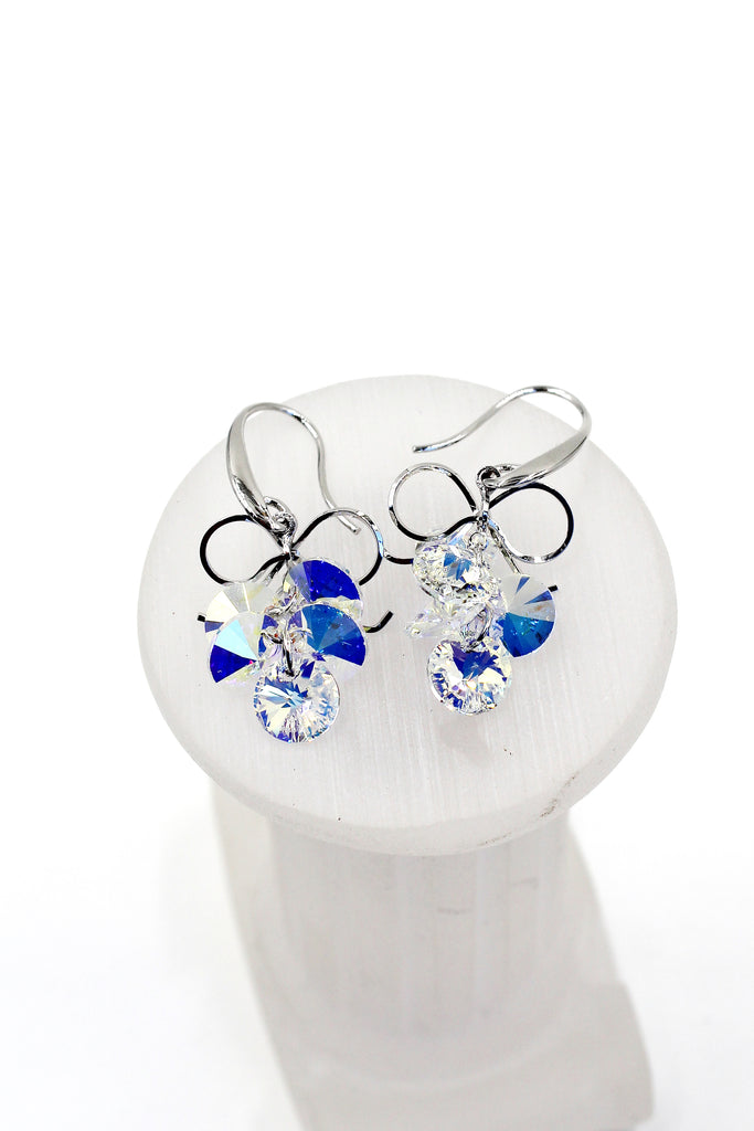 wire silver yooladesign sil crochet baby bluecrystal crystal products blue yoola dangle swarovski grande earrings