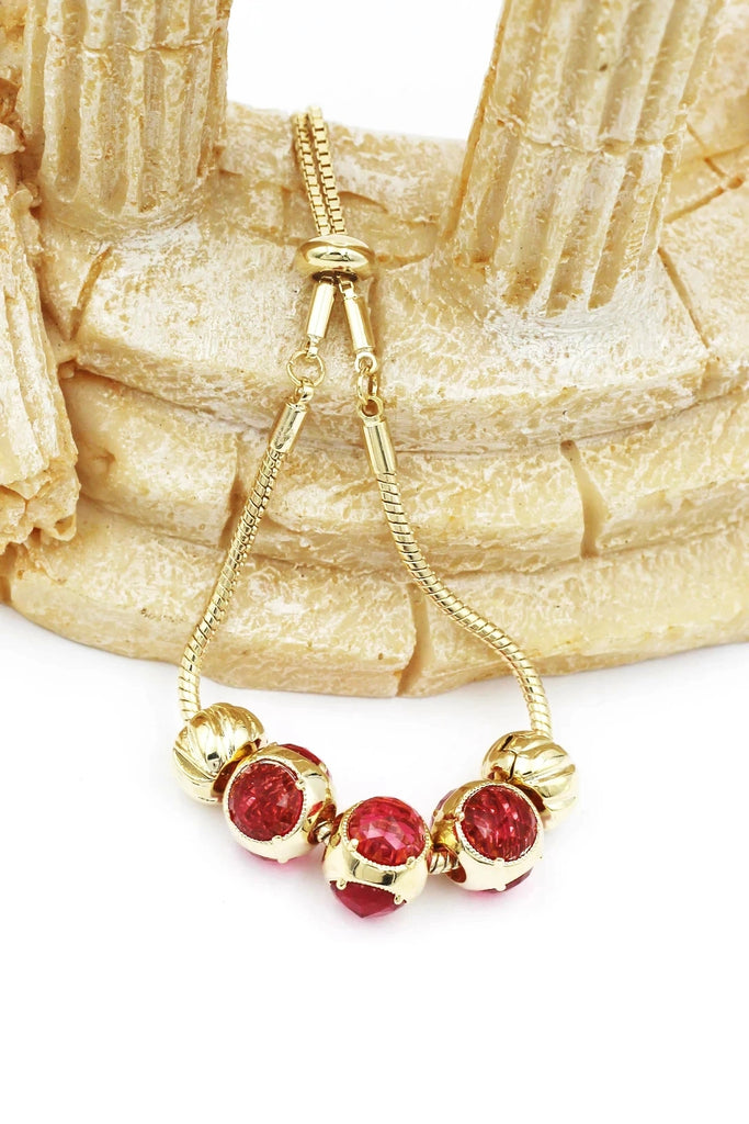 fashion red crystal bracelet earring set