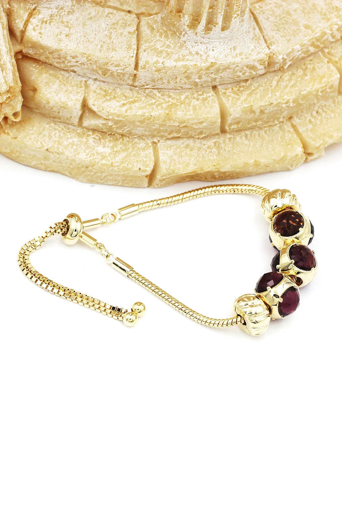 beautiful deep purple crystal bracelet