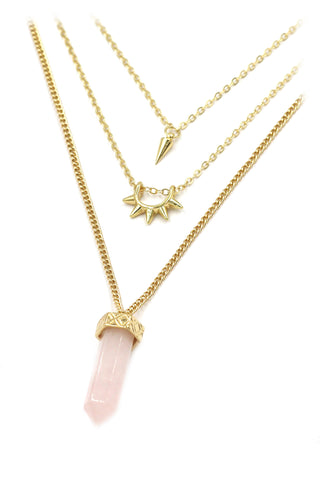 Fashion Triangle crystal necklace