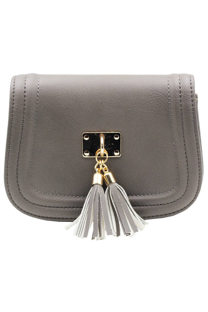 fringed leather sweet little purse