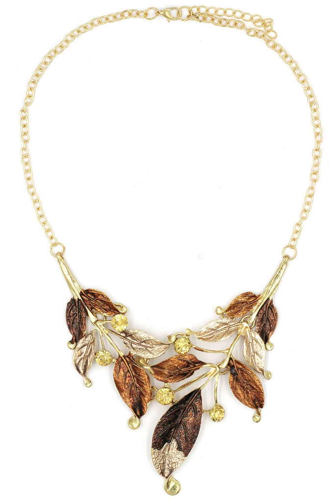 fashion leaves necklace