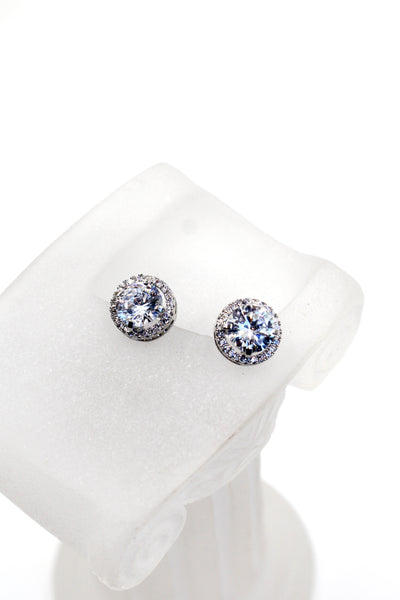 shining single crystal earrings