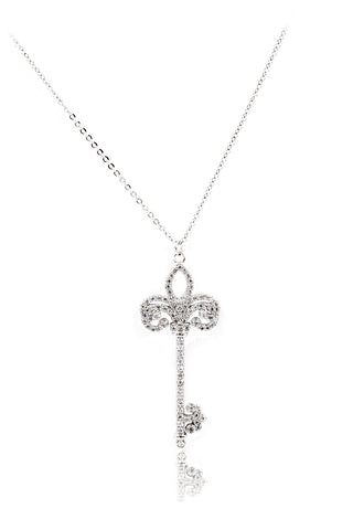 wild cross crystal necklace