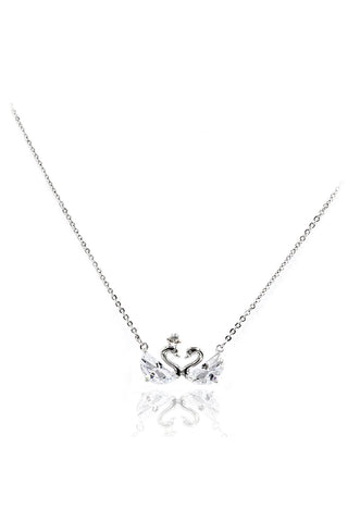 white snowflake crystal necklace