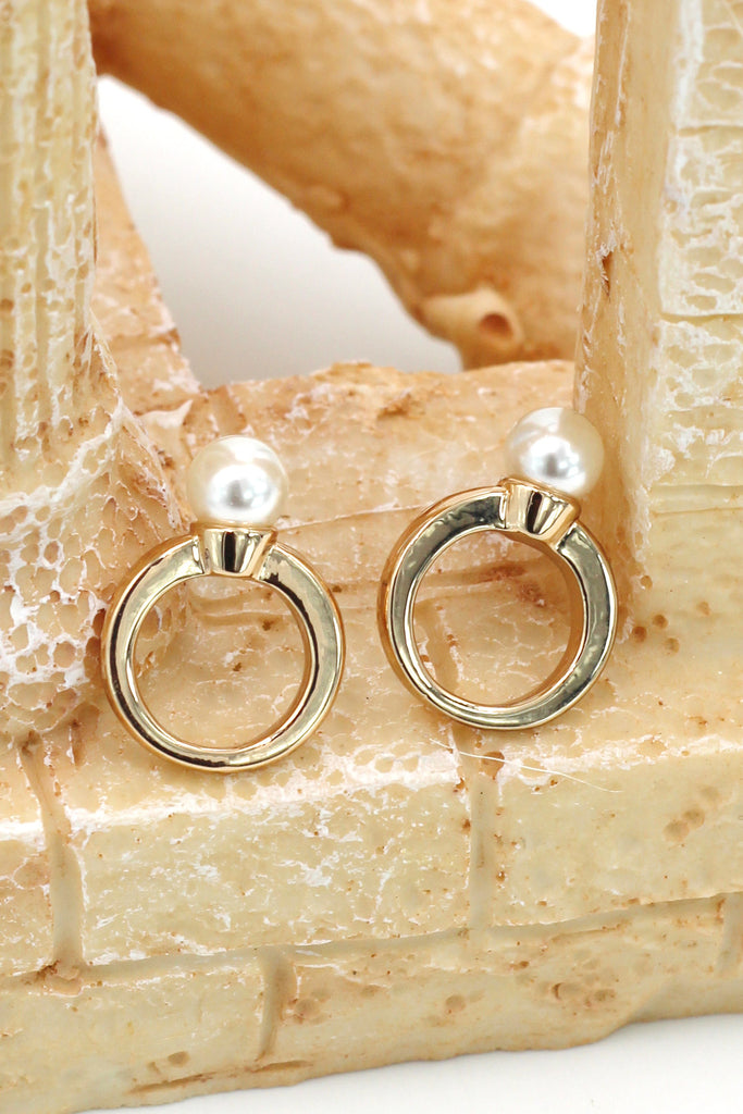 simple pearl ring earrings