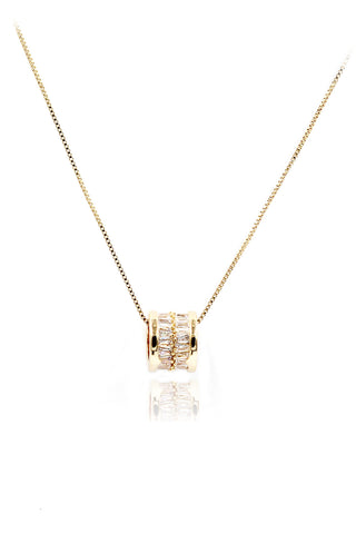 delicate little crown crystal necklace