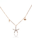 crystal starfish shell pearl necklace