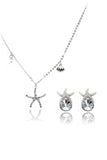 star crystal necklace earrings set