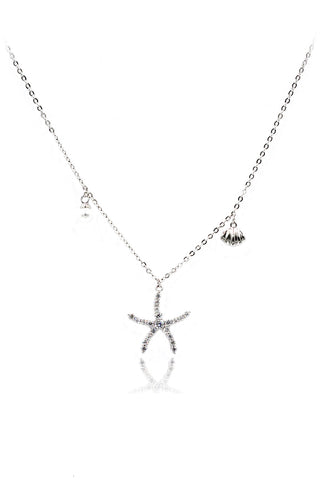 wild key crystal pendant necklace