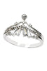 fashion crystal skirt silver ring