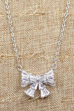 small fresh bow wild necklace