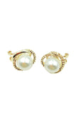 Pearl ring gold earring