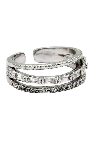 fashion vitality silver crystal ring