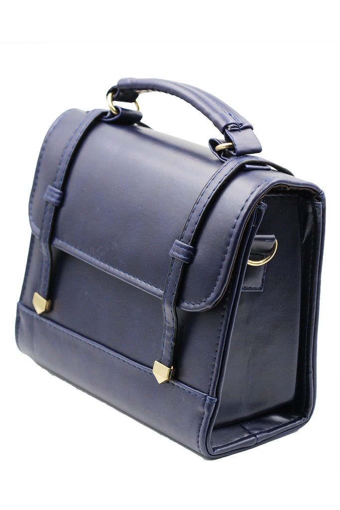 Blue traditional Postman leather bag
