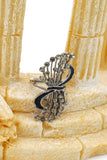 fashion music symbol crystal ring