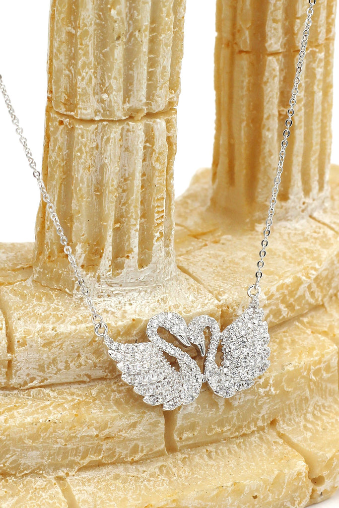 fashion Crystal Swan clavicle necklace bracelet set