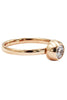 fashion bullet head crystal rose gold ring