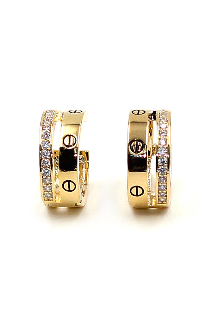 Traditional Crystal Ring Earrings
