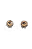 fashion brown crystal earrings