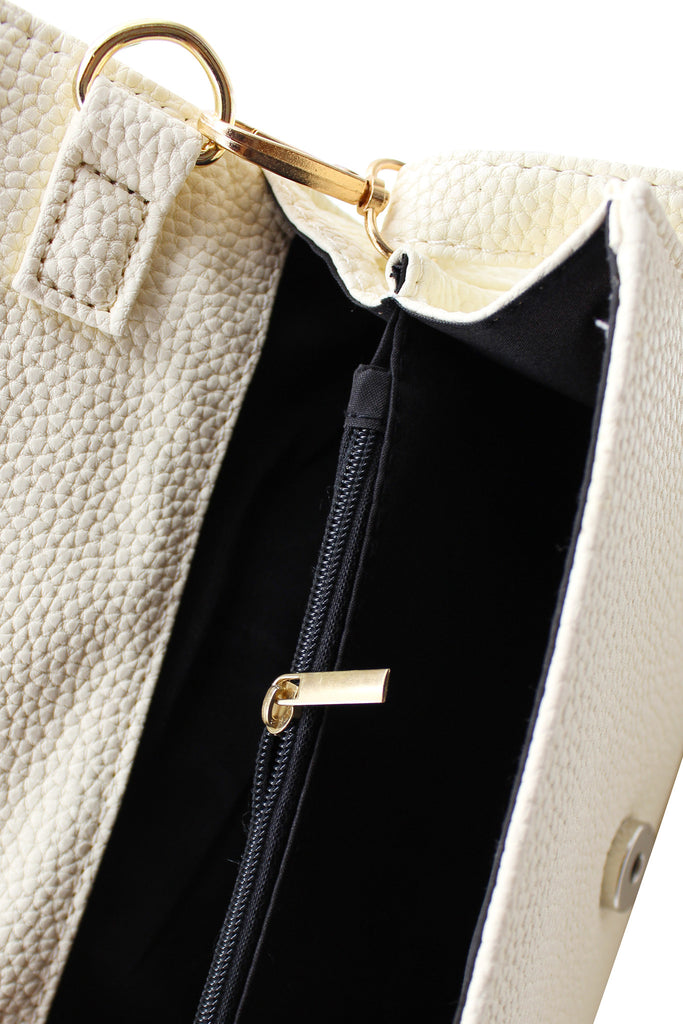 Pebble leather small lock purse