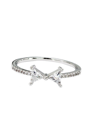 fashion butterfly crystal ring