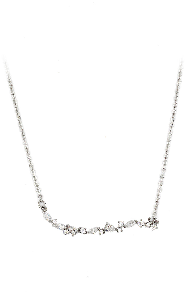 cabinet crystal curve lady clavicle necklace