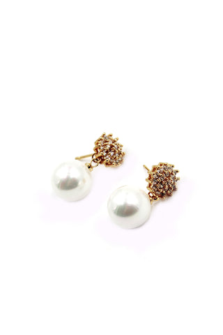 mini crystal golden earrings