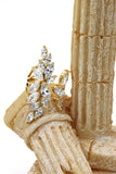 noble golden asymmetry crystal ring