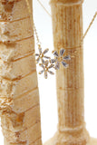 simple flowers crystal necklace