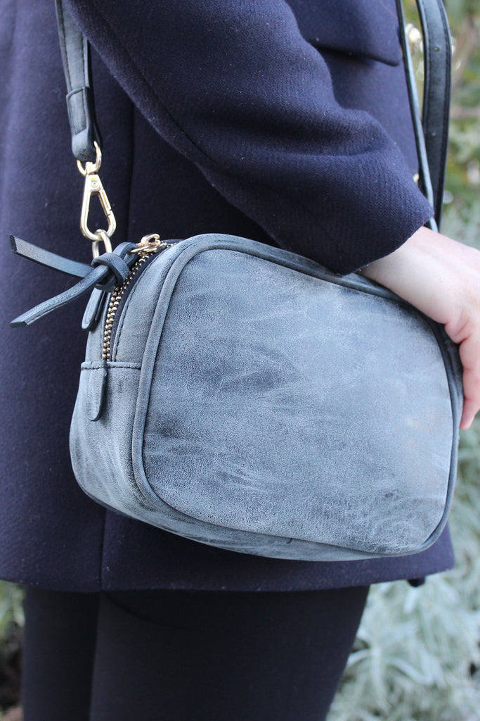 Traditional small gray lady purse