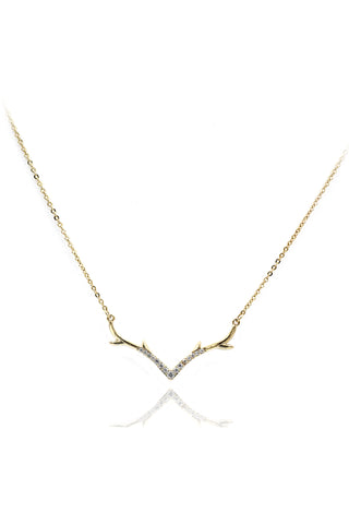 delicate butterfly crystal necklace