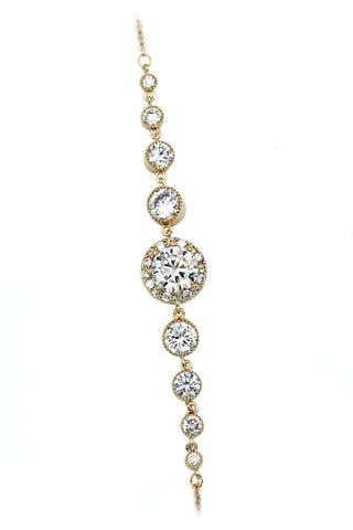 Fashion ball crystal earrings